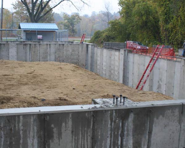 foundation construction designed by structural engineers