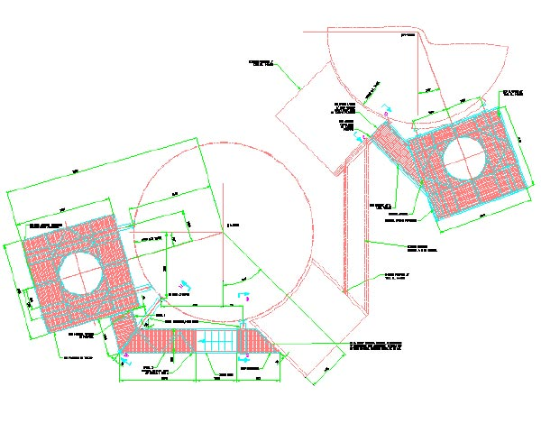 Layout and design of structural steel platforms on existing refractory lined storage towers