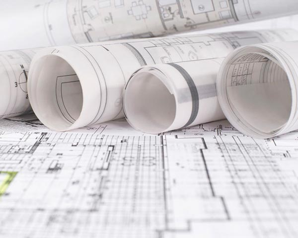 Engineering plans of construction phases